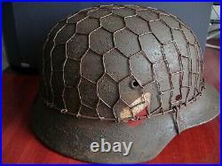 German Stahlhelm Helmet SE64 M-35 hard hat WW II