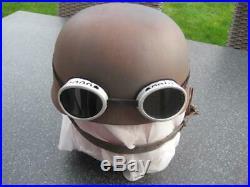 German WW II steel helmet paratrooper air-borne wehrmacht original sun glasses