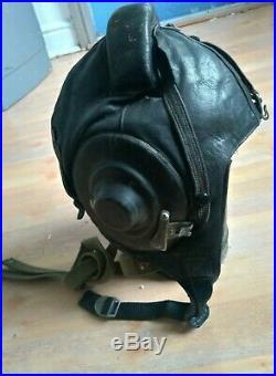 German WW2 1st Fighter Division 1. Nachtjagd-Division Luftwaffe leather helmet