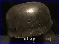 German WW2 Fallschirmjager Helmet Aged Reproduction