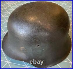 German WW2 Heer M42 helmet EF64 Double Decal With Original Liner