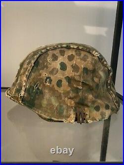 German WW2 Helmet Camouflage Cover Reversible Camo Helmet Cover
