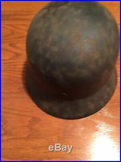 German WW2 Helmet Original SS Named Double Decals Good Shape Rare