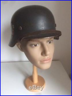 German WW2 Luftwaffe Double Decal M35 Helmet