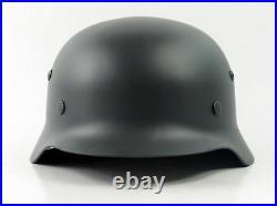 German WW2 M35 Gray Steel Helmet Field Best Replica Helmets New