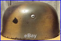 German WW2 M38 Camo Fallschirmjager Helmet CKL71 Only $1.00 Starting Bid