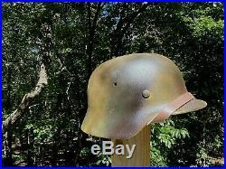German WW2 M40 Helmet (Refurbished Original EF 66 shell)