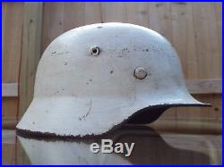 German WW2 WWII M40 Stahlhelm Helmet Snow Camo BIG Size SE66
