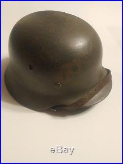 German WW2 helmet M35 painted former tropical helmet