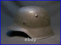 German WWII Combat Helmet, ND M-42, Late