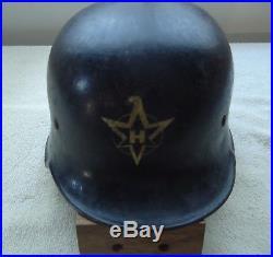 German WWII Guard Factory Security Helmet