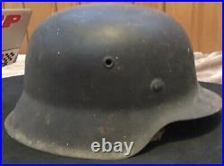 German WWII Luftwaffe M42 1530 ET66 helmet