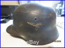 German WWII Luftwaffe SD Helmet all Original M40 75% of Eagle