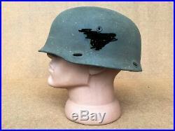 German WWII M36 Paratrooper Helmet. BIG SIZE