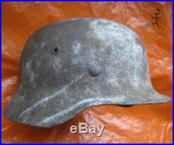 German WWII M40 1940 Stahlhelm Battlefield Relic Steel Helmet bridgeheadUkraine