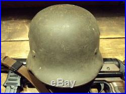 German WWII M40 Army Combat Helmet Stahlhelm Q62 Dated 1931 Don't Miss It