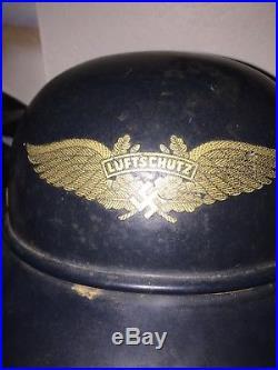 German WWII WW2 Luftschutz Helmet