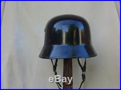 German WWII World War Two Parade helmet black paint rare shape and cool style