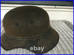 German Ww II Luftschutz Gladiator Fire Helmet Partial Liner / Chin Strap 57