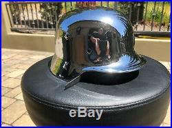 German Wwii Chrome Plated Helmet