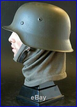 German helmet Stahlhelm M42 ORIGINAL WW2 MADE HUGE SIZE 68 shell and 59cm liner