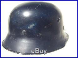 German luftschutz helmet Edelstahl type