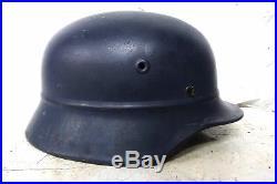 German m40 Beaded Luftschutz helmet, Q68 marked Biggest shell, complete RARE
