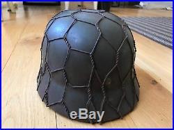 German ww2 helmet-full wire