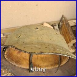 German ww2 winter camo / light tan yellow camo helmet