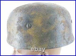 Great Ww 2 German Luftwaffe Camo Paratrooper Helmet With Liner