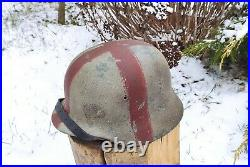 Helmet original nice german helmet M40 size ET64 have a number WW2 WWII medical