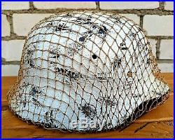 Helmets WW2 German after restoration
