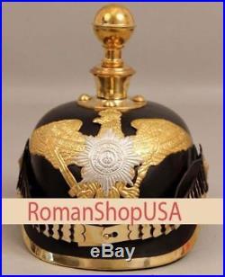 Imperial Officer's Helmet WW1 WW2 German Prussian Leather Pickelhaube Armour