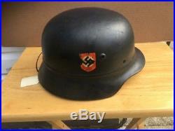 M1935 WW2 German Luftschutz Beaded Helmet Polizie Original Used NS66 WWII