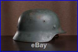 M35 Helmet WW2 German after professional restoration