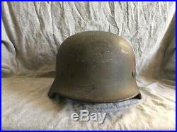 M40 German Luftwaffe Helmet WWII Quist 66 with Eagle Decal