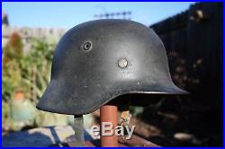M40 German Steel Combat Helmet Quist Q64 dated 1944