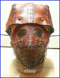 MASK & HELMET British WW1 Tanker splatter Mask & Leather Helmet US German WW2