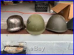 Military helmets german WWII, cold war era US, soviet, east german