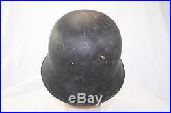 Model'42 Ww2 German Helmet Shell- Size 66 Maker Marked Ckl