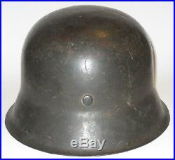 Named WWII German Military M42 Stahlhelm Helmet ckl66 with Liner, Partial Strap