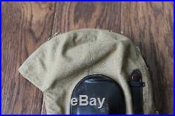 ORIG WWII German Luftwaffe LKp-S101 Tan Summer Linen Flight Helmet Cap Hat DAK