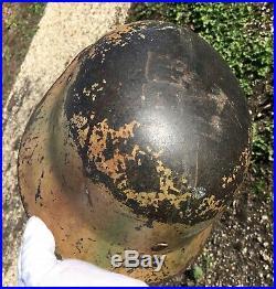 ORIGINAL German Camouflage Helmet WW2 ex mail home
