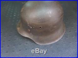 ORIGINAL WW2 GERMAN ARMY HELMET M42 Late war unpainted at the factory