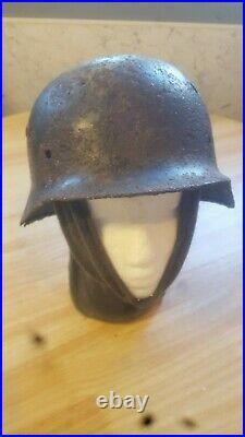 ORIGINAL WW2 GERMAN HELMET RELIC M40 DD Wehrmacht Smolensk Russia