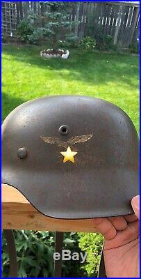 ORIGINAL WW2 GERMAN LUFTWAFFE M42 Helmet