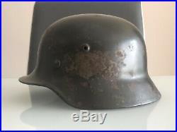 ORIGINAL WW2 German Helmet m35 ex DD Q62
