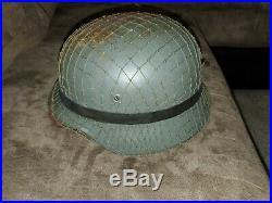ORIGINAL WWII German Steel Helmet M40 Wehrmacht Stahlhelm EXC