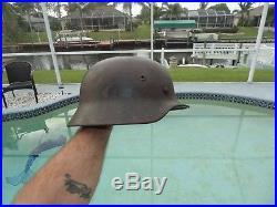 Old Vintage Early German Wwii Wehrmacht Combat Helmet Original Ww2