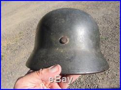 Orig GI bring back M-40 German helmet Size 64 Heavy Green Camouflage Painted